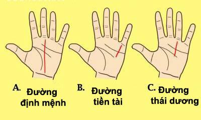 3 đường chỉ tay mang lại
