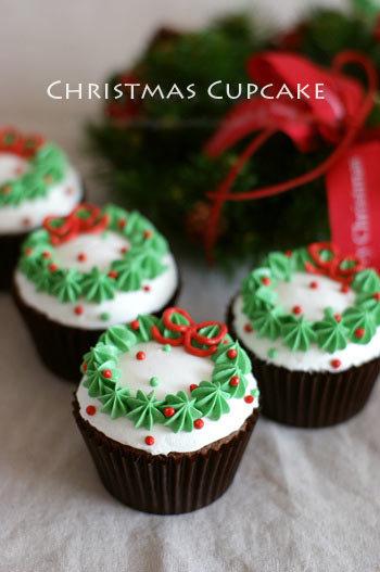 Cách làm bánh kem cupcake cho giáng sinh