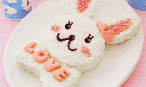 Bánh gato thỏ bông đáng iu