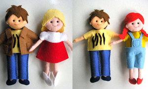 Cặp đôi búp bê xinh yêu từ vải vụn