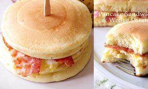 Nhem nhem bánh sandwich khoai tây bé bự
