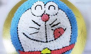 Hì hụi học làm bánh gato Doreamon ú xinh