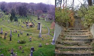 Bí ẩn cầu thang ma ở nghĩa trang