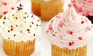 Cupcakes kem tươi hình chóp nón đáng yêu