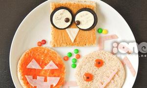Tiệc Halloween ấn tượng với cú mèo sandwich