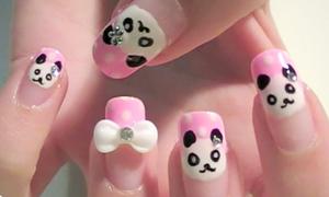 Làm móng panda dễ thương lắm nhé!