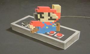 Hoạ sĩ vẽ hình Super Mario 3D cực 'ảo'
