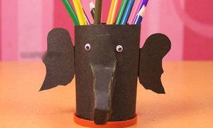 Cách làm hộp cắm bút hình chú voi ngộ nghĩnh