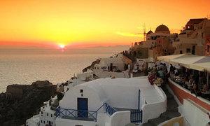 Clip tham quan đảo Santorini đẹp mê hồn