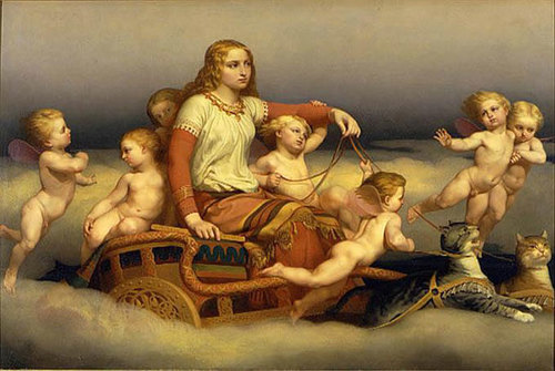 2-norse-mythology--freyja-rides-cat-char
