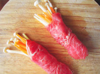 Cách làm món thịt bò cuộn rau chiên vàng ngon 4