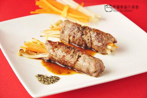 Cách làm món thịt bò cuộn rau chiên vàng ngon
