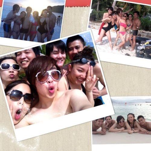 Wanbi cùng Tóc Tiên và những người bạn đi tắm biển nhân dịp hè.