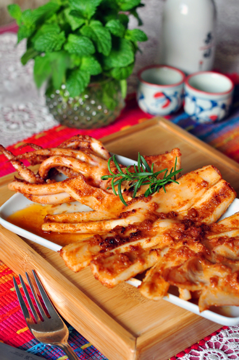 Cách làm món mực nướng kiểu Hàn Quốc cay xè thơm ngon 10