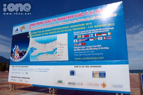 Panô cuộc thi Marathon quốc tế Đà Nẵng 2013 tại công viên biển Đông. Ảnh minh họa: Khôi Trần.