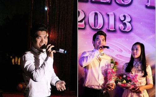 Tối 22/9, đông đảo sinh viên ĐH Ngoại thương TP HCM đã có một đêm nhạc gây quỹ từ thiện quy mô nhất trong năm. Góp mặt trong chương trình là Á vương Trương Nam Thành và Á hậu Vũ Ngọc Hoàng Oanh, hai gương mặt đại sứ thân thiện của đêm nhạc.