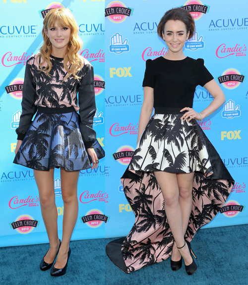 Hai ngôi sao teen nổi tiếng Bella Thorne và Lily Collins