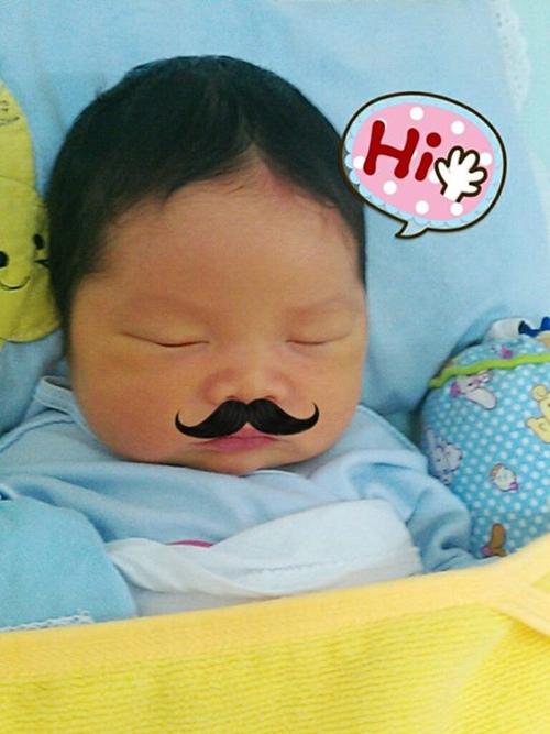 Bức ảnh về bé Đậu Đậu, nhân vật chính bộ truyện gây sốt Nhật ký của mẹ được tác giả đăng lên trang cá nhân. Ảnh: Fb