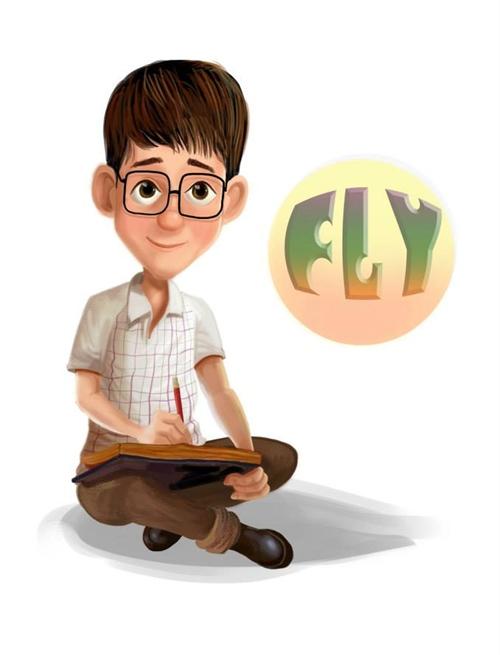 Chân dung tự họa của Thăng Fly, chủ nhân nhiều bộ truyện tranh ý nghĩa.