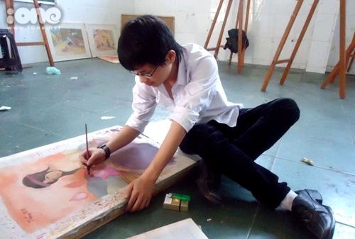 Thăng Fly vẫn duy trì niềm đam mê hội họa bằng những bộ tranh free.