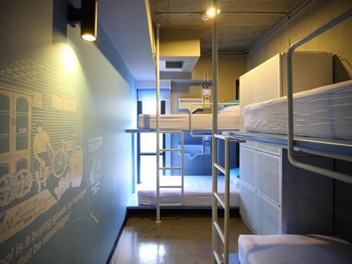 Dạng phòng tập thể (dorm) ở hostel. Rất ấm cúng và sạch sẽ. Ảnh: Internet