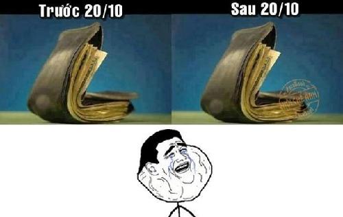 Nỗi niềm chàng F.A:  sau ngày 20/10 ví tiền vẫn còn ý nguyên.