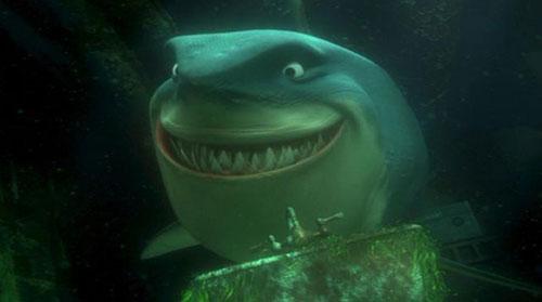 Nhân vật cá mập trắng khổng lồ trong  Đi tìm Nemo tên là Bruce, cái tên từng được sử dụng cho nhân vật cá mập trong phim Hàm cá mập, và Bruce (tên đầy đủ là Bruce Ramer) chính là tên của luật sư riêng của đạo diễn Hàm cá mập, Steven Spielberg.