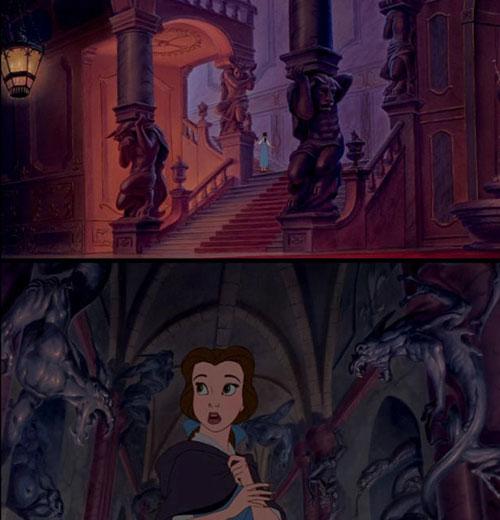 Trong bộ phim hoạt hình Người đẹp và Quái vật (1991),  phần lớn các tác phẩm điêu khắc được nhìn thấy trong lâu đài đều là những  tạo hình ban đầu của Quái vật.