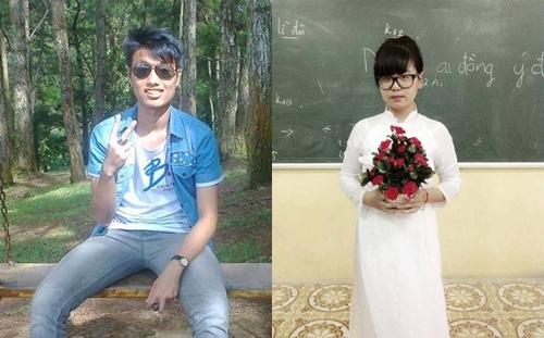 Hải và Linh, hai nhân vật được bàn tán nhiều nhất trên fanpage trường Đào Duy Từ những ngày qua. Ảnh: FB