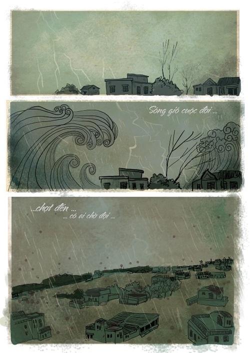 Bộ tranh được vẽ dựa trên cảm hứng từ ca khúc 'Đôi bàn tay' - Bức tường.