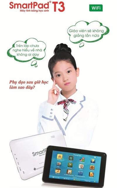 Cấu hình tốt, độ bền cao, an toàn và dễ kiểm soát cùng kho ứng dụng hỗ trợ học tập độc quyền... là những ưu điểm khiến máy tính bảng học sinh SmartPad T3 vừa ra mắt đã tạo ấn tượng mạnh mẽ cho cả phụ huynh, học sinh và các nhà giáo dục.