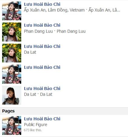Loạt trang cá nhân và fanpage giả mạo Lưu Hoài Bảo Chi, cô gái bán bánh tráng trộn ở Đà Lạt.
