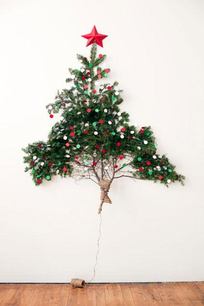 Các trang trí cây thông Noel trên tường phần 2
