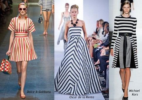 Những đường kẻ sọc cá tính dưới tên gọi Stripes Galore chính là xu hướng được ưa chuộng nhất trong mùa Xuân/Hè 2013 vừa qua.