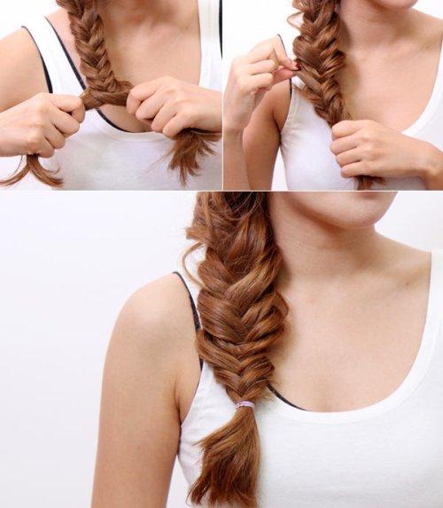 Sauk hi hoàn thành bạn có thể đánh rối một chút để tạo nét tự nhiên cho mái tóc.
