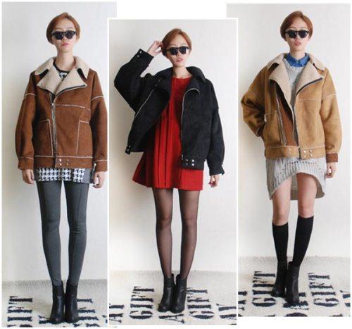Kiểu áo khoác này phù hợp để phối cùng nhiều loại váy khác nhau, bạn có thể chọn những phụ kiện như legging, tất chân để giữ ấm những ngày lạnh, ankle boots mạnh mẽ là kiểu giày phụ hợp khi mix cùng.