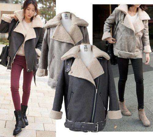 Áo khoác cổ lông, sweater và quần jean là công thức đơn giản dành cho các bạn yêu phong cách casual.