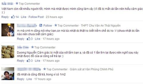 Đông đảo bạn trẻ ca ngợi hành động của Khánh và tin tưởng vào giới trẻ Việt. Ảnh chụp màn hình.