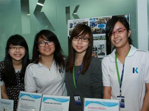 """buổi hội thảo chuyên đề """"Du học chi phí thấp - bằng cấp công nhận quốc tế - cơ hội chuyển tiếp đa quốc gia"""" của Tập đoàn giáo dục Kaplan Mỹ tại Singapore."""