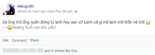Nhiều dân mạng hài hước chia sẻ tâm trạng khi trời Sài Gòn lạnh đột ngột.