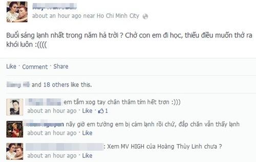 Rôm rả bình luận về tiết trời Sài Gòn những ngày se lạnh.