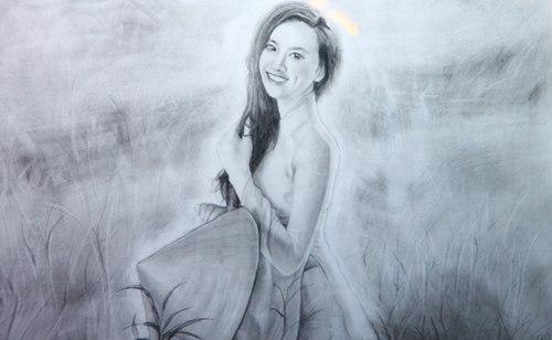 Bức ảnh hoa hậu Diễm Hương được bán đấu giá ở mức 20 triệu đồng.