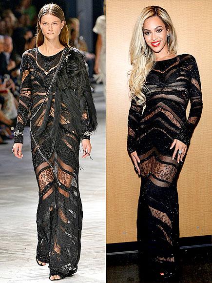 Với dáng người đậm, Beyonce quyết định tháo bỏ phần trang trí lông vũ
