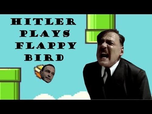 Đến trùm phát xít Hitler cũng không kiềm được sự tức giận khi chơi Flappy Bird.