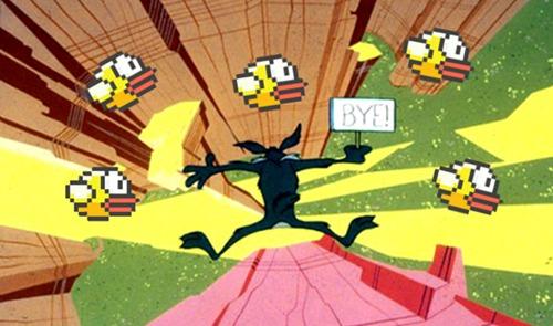 Tâm trạng những người thua Flappy Bird như rơi xuống vực thẳm.