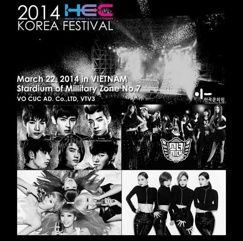 Hình ảnh về buổi diễn của các nhóm nhạc Hàn Quốc tại Việt Nam vào tháng 3 đang được cộng đồng mạng chia sẻ.