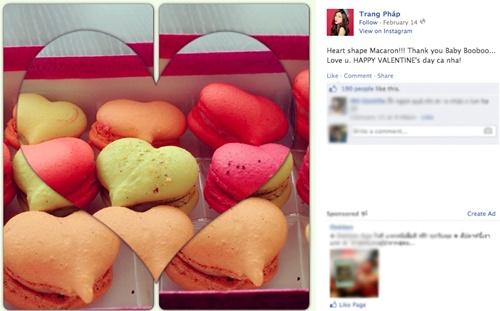Ảnh chụp từ Facebook của ca sĩ Trang Pháp.