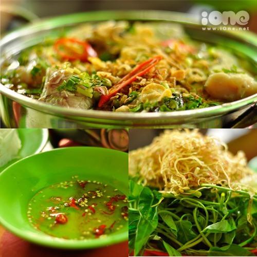 Lẩu cá đuối hấp dẫn cùng rau sống tươi mát đem lại một bữa ăn ngon tuyệt hảo. Ảnh: Gà Con.