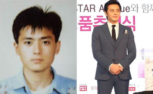Ảnh ngày trẻ của Jang Dong Gun hẳn khiến không ít cô