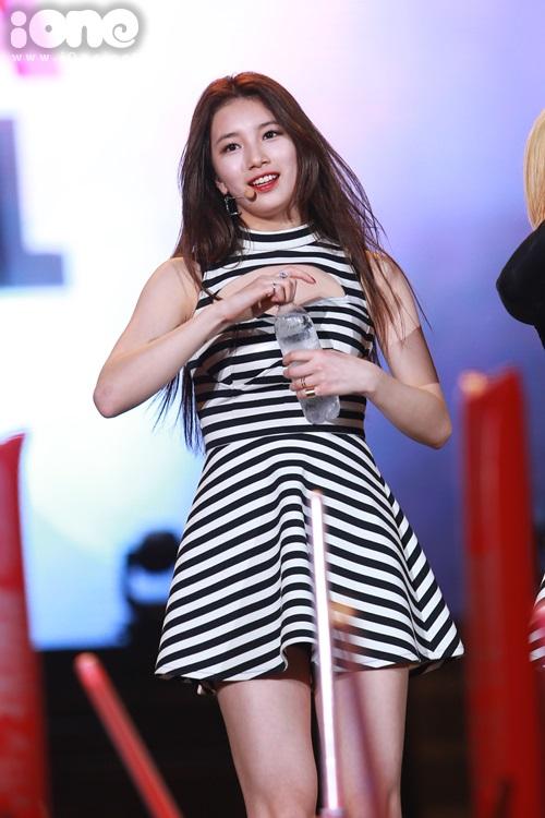 Được biết đến qua khá nhiều drama đình đám của Hàn Quốc nên Suzy trở thành thành viên nổi tiếng nhất và nhận được rất nhiều sự cổ vũ từ fan.